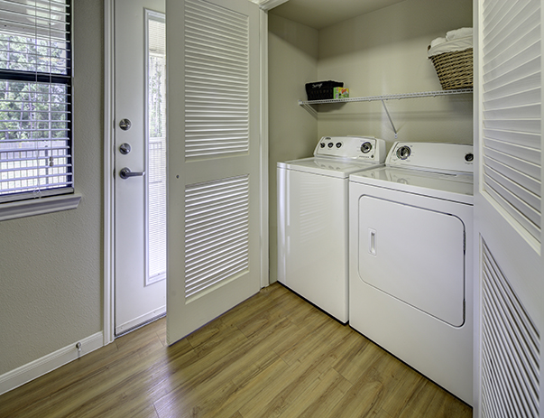 Spacious laundry room at Villas on Sycamore