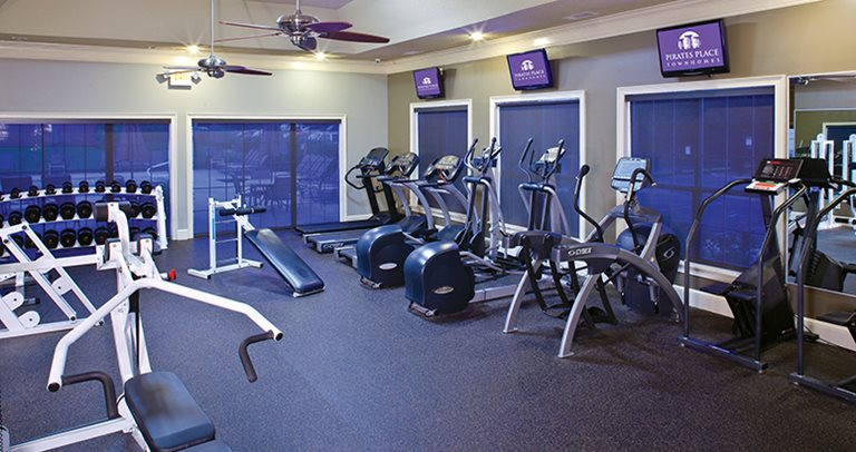 Fitness center at Pirates Place Townhomes