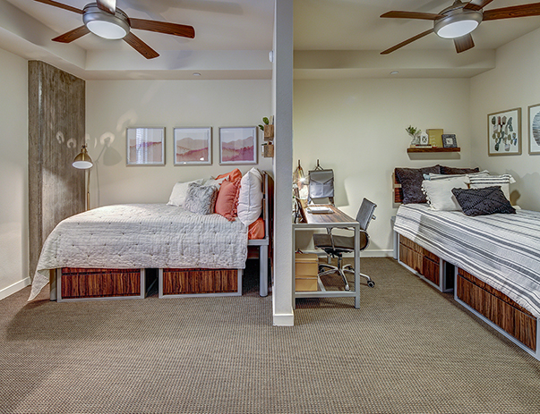 Fully furnished, shared bedroom at The Callaway House Austin
