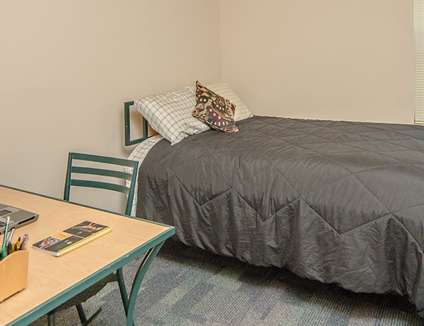Fully furnished bedroom at University Village Towson