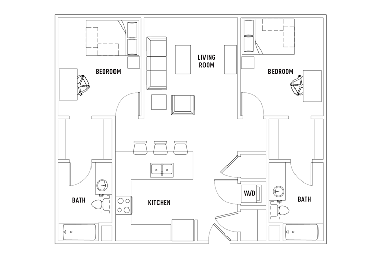 Edge 2 bed - 2 bath