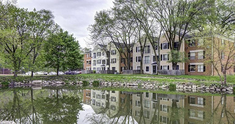 Exterior view of Willowtree Apartments and Tower near The University of Michigan