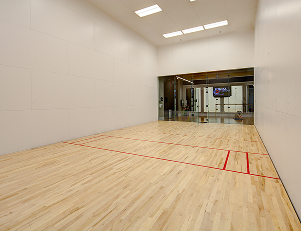 Racquetball court at The Standard at Athens