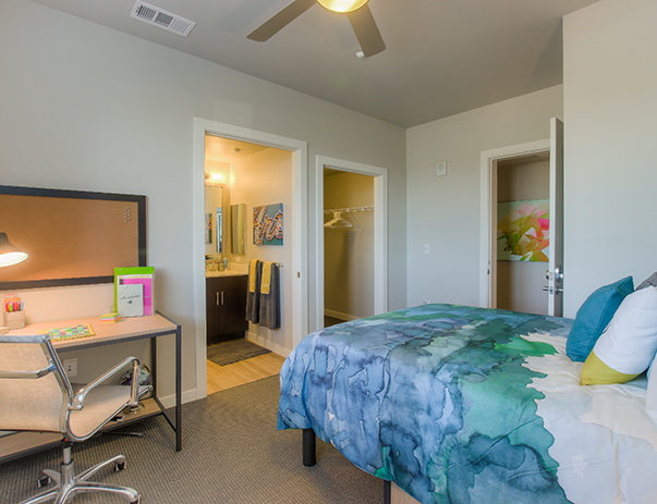 Private and spacious bedroom at Currie Hall