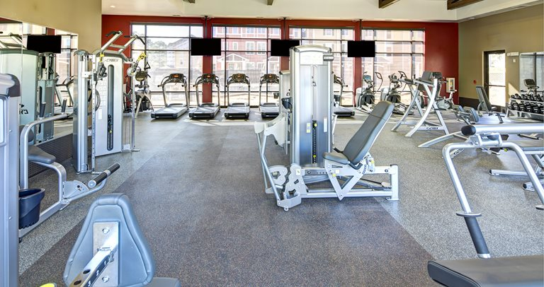Fitness center at U Club on Woodward